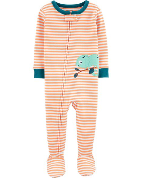 1-Piece Iguana Snug Fit Cotton Footie PJs