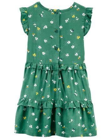 Floral Bee Poplin Dress