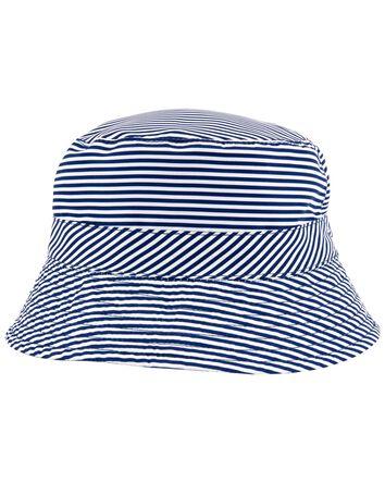Chapeau cloche rayé réversible
