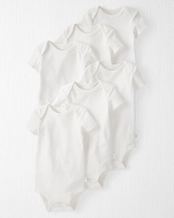 6-Pack Organic Cotton Rib Bodysuits