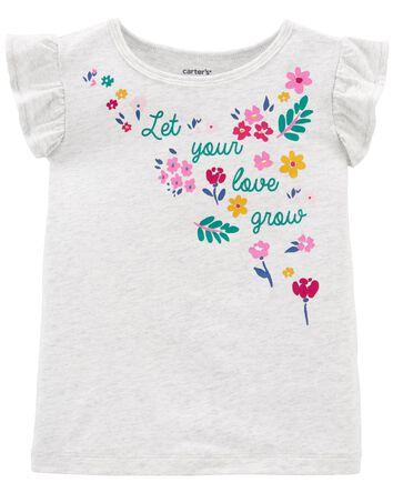 T-shirt fleuri en jersey
