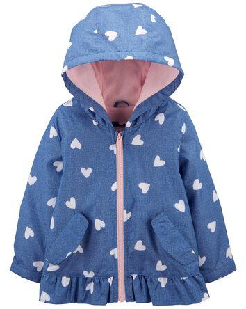 Heart Fleece-Lined Jacket