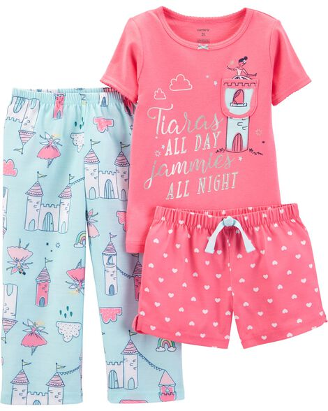 3-Piece Princess Poly PJs