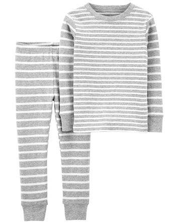 Pyjama 2 pièces en coton ajusté ray...