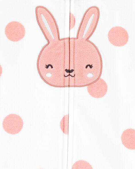 Gigoteuse en molleton à visage de lapin