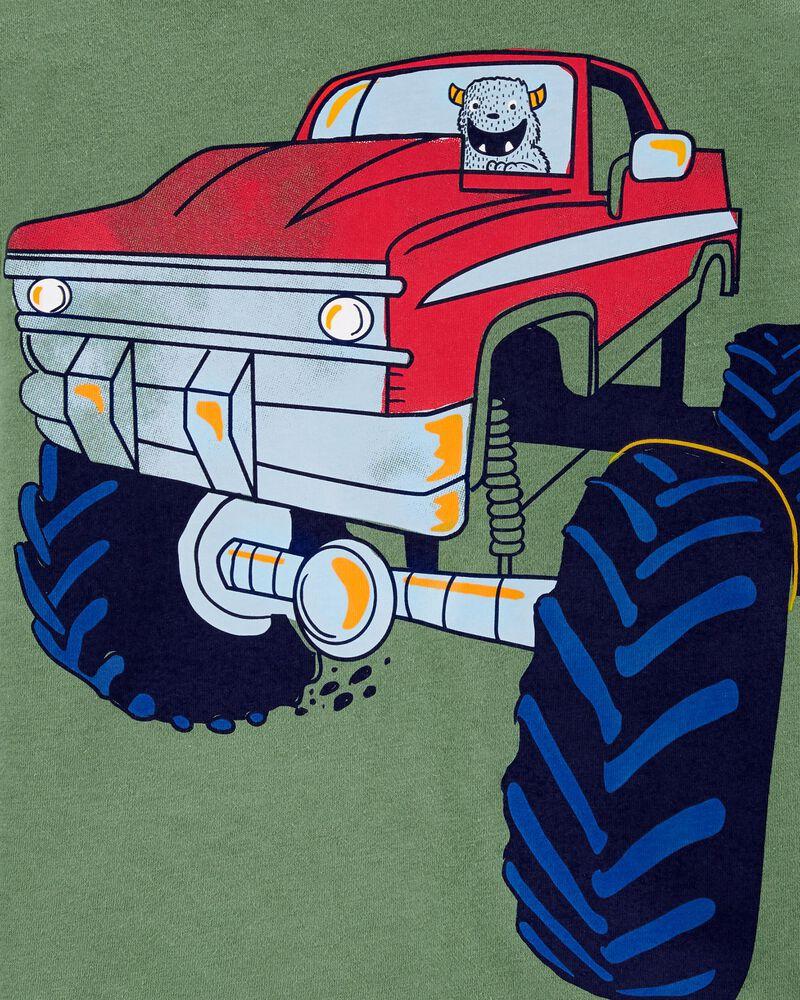 T-shirt en jersey avec camion monstre, , hi-res