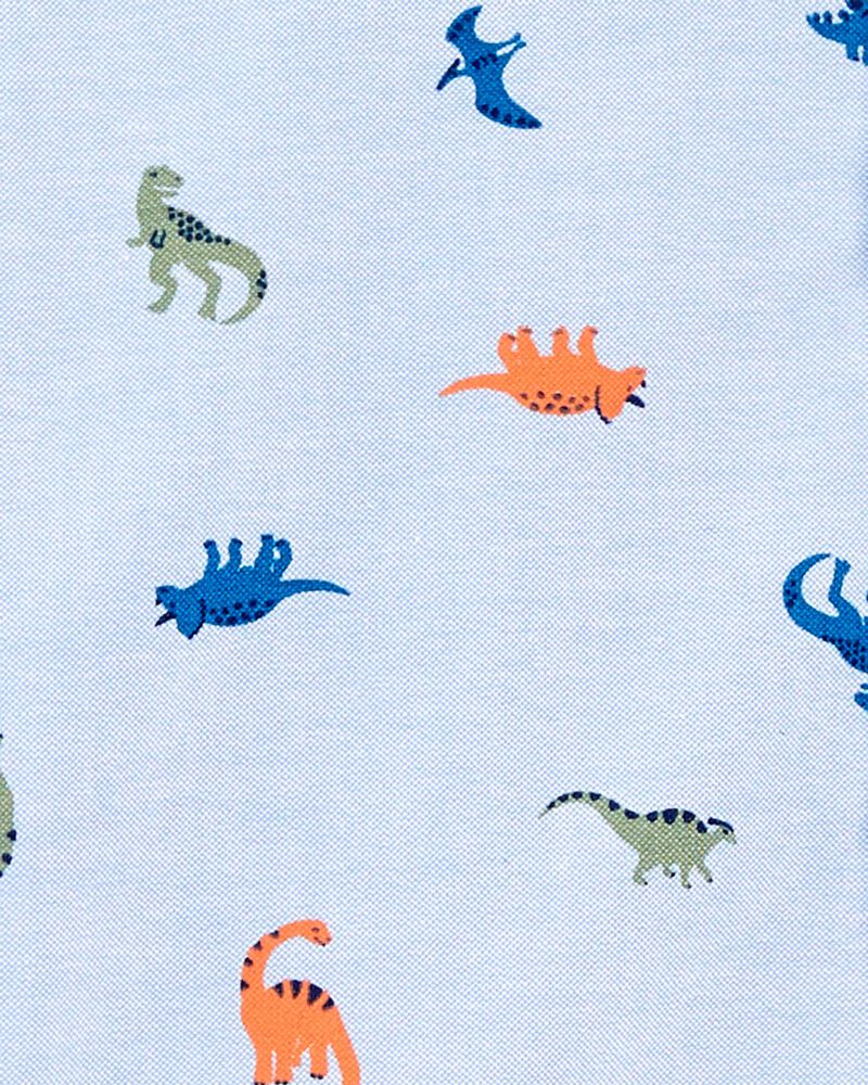 2-Piece Dinosaur Button-Front Shirt & Pant Set, , hi-res