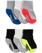 6-Pack Athletic Quarter Crew Socks, , hi-res