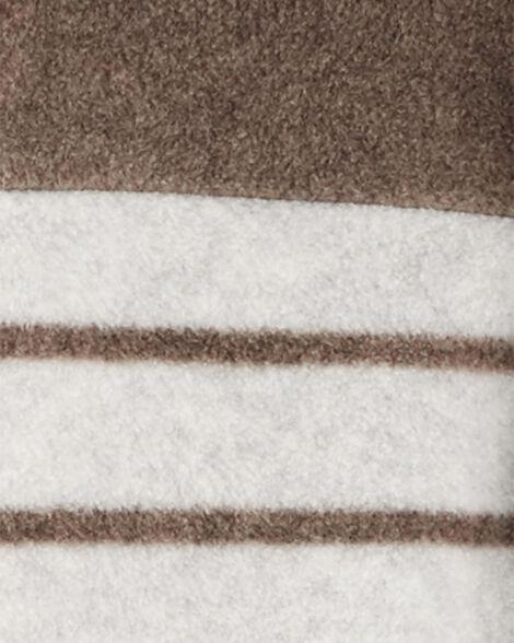Combinaison à capuchon en molleton avec rayures