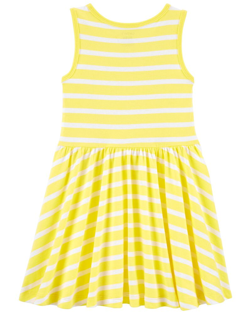 Striped Jersey Dress, , hi-res
