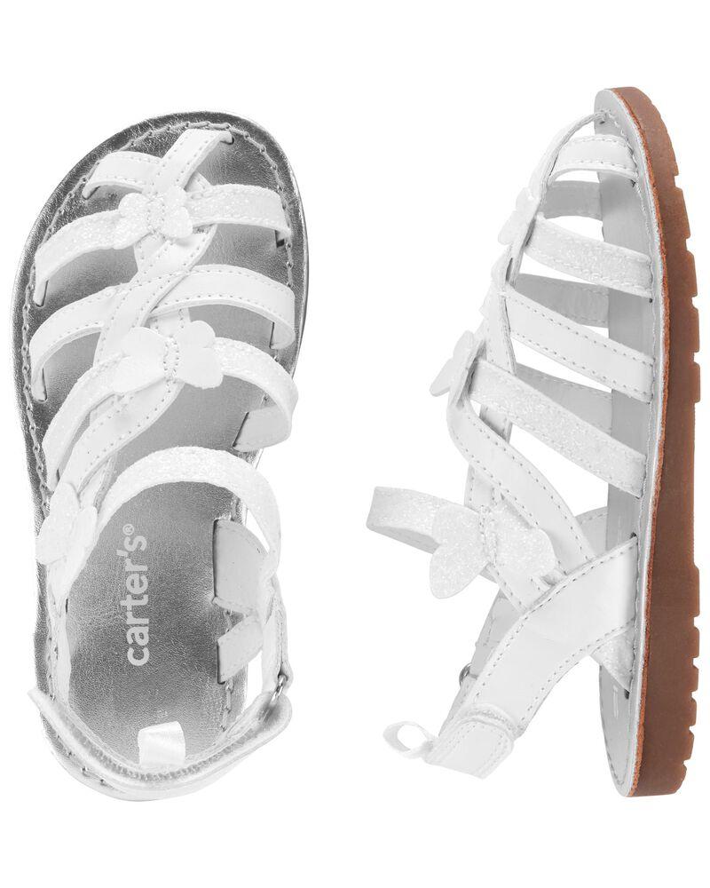 Sandales de style pêcheur à papillon, , hi-res