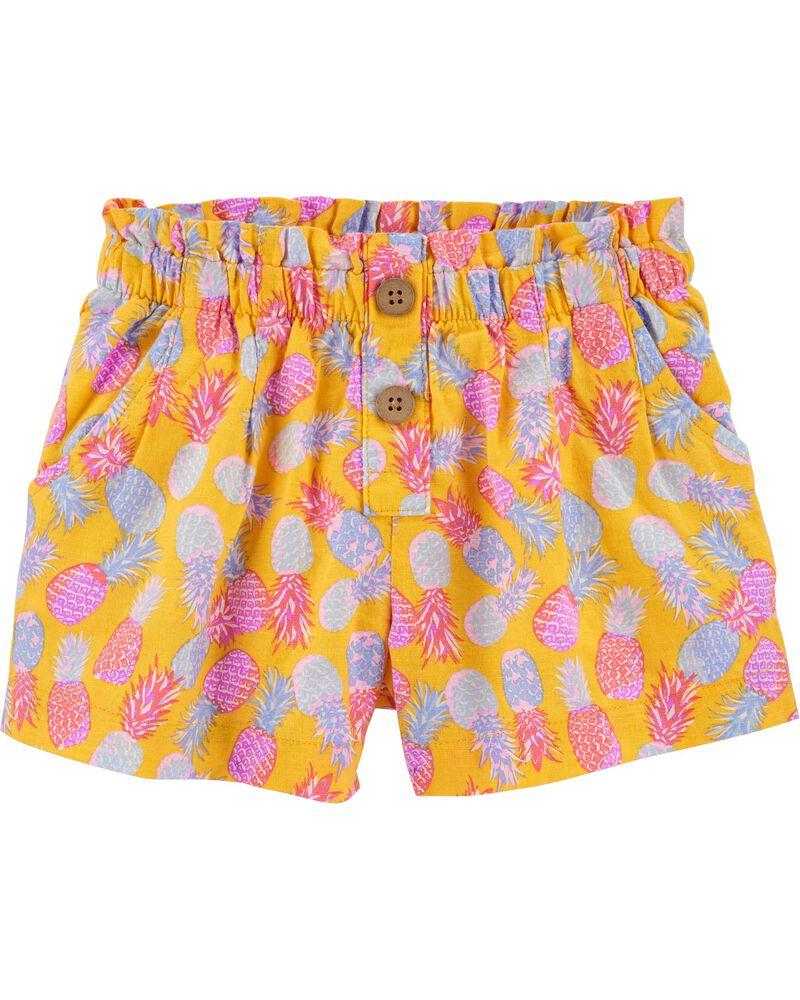 Pineapple Linen Shorts, , hi-res