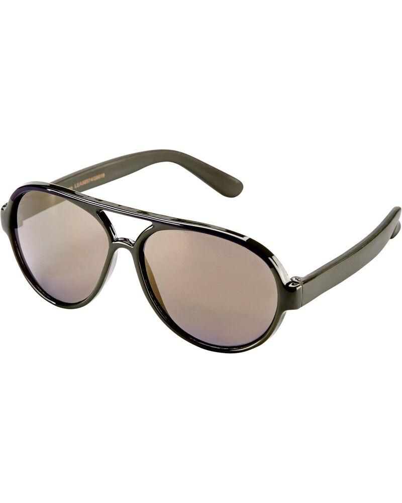 Camo Aviator Sunglasses, , hi-res