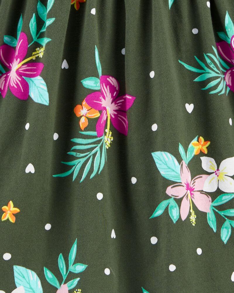 Robe débardeur en jersey à imprimé tropical, , hi-res