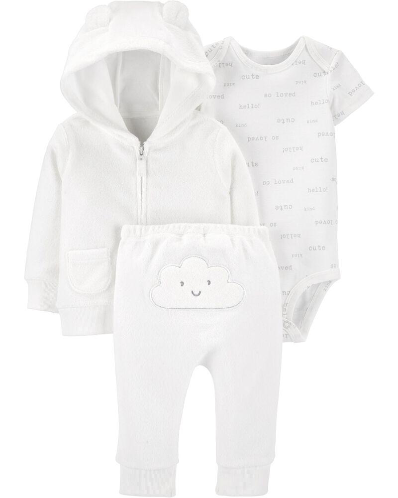3-Piece Cloud Little Jacket Set, , hi-res