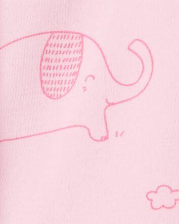 Elephant Snap-Up Cotton Sleep & Pla...