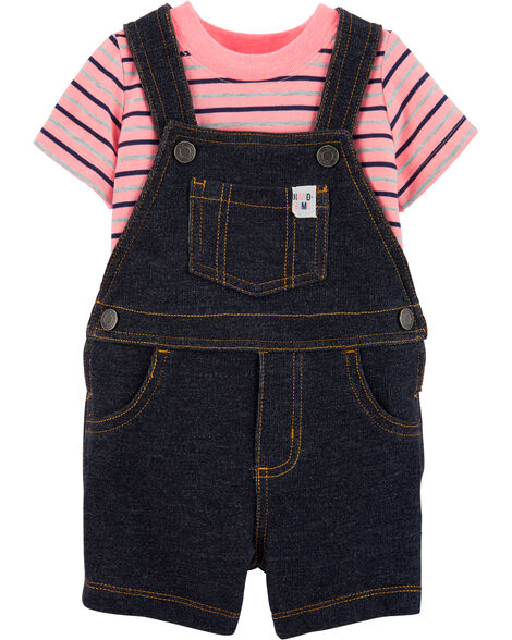 2-Piece Tee & Truck Shortalls Set