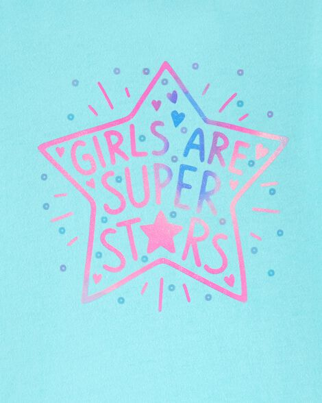 T-shirt en jersey à dos de style tulipe Girls Are Super Stars