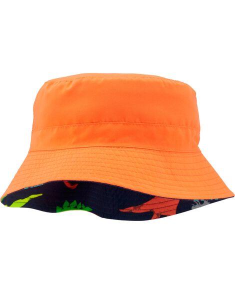 Chapeau cloche réversible à motif dinosaure