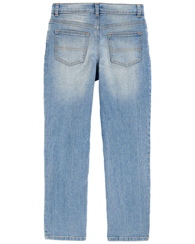 Rip & Repair Stretch Denim Jeans —Slim Fit, , hi-res