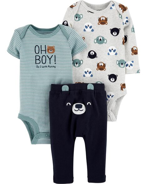 3-Piece Bear Little Cardigan Set