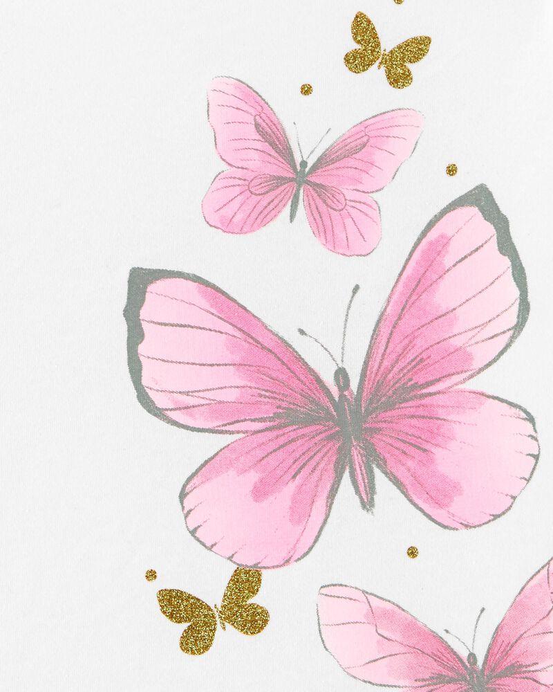 T-shirt en jersey Papillon, , hi-res