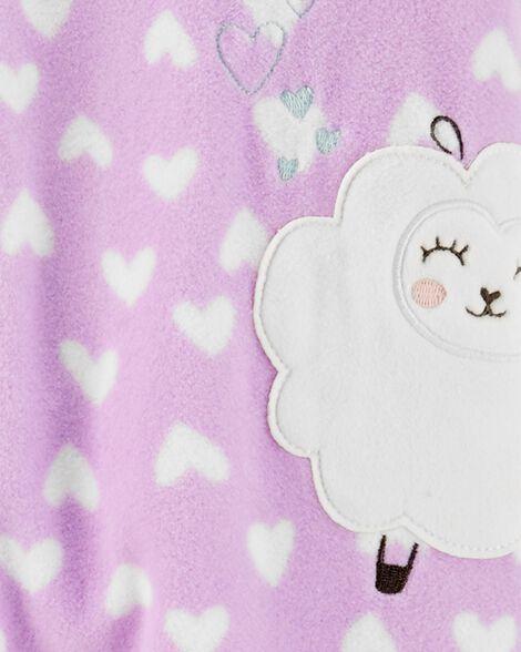 1-Piece Sheep Fleece Footie PJs