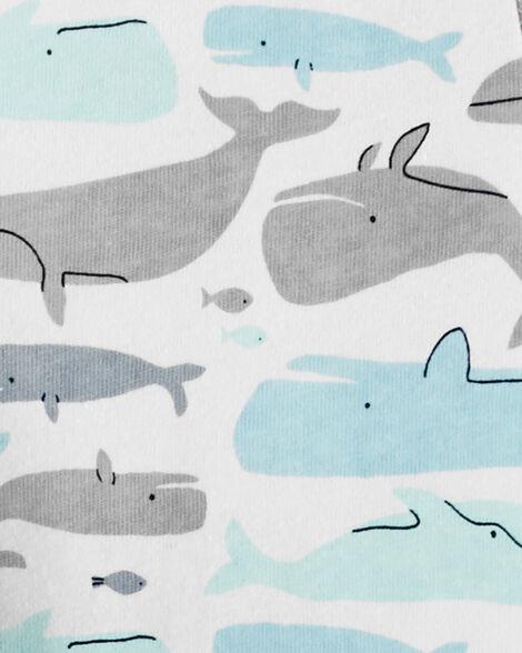 2-Pack Whale Rompers