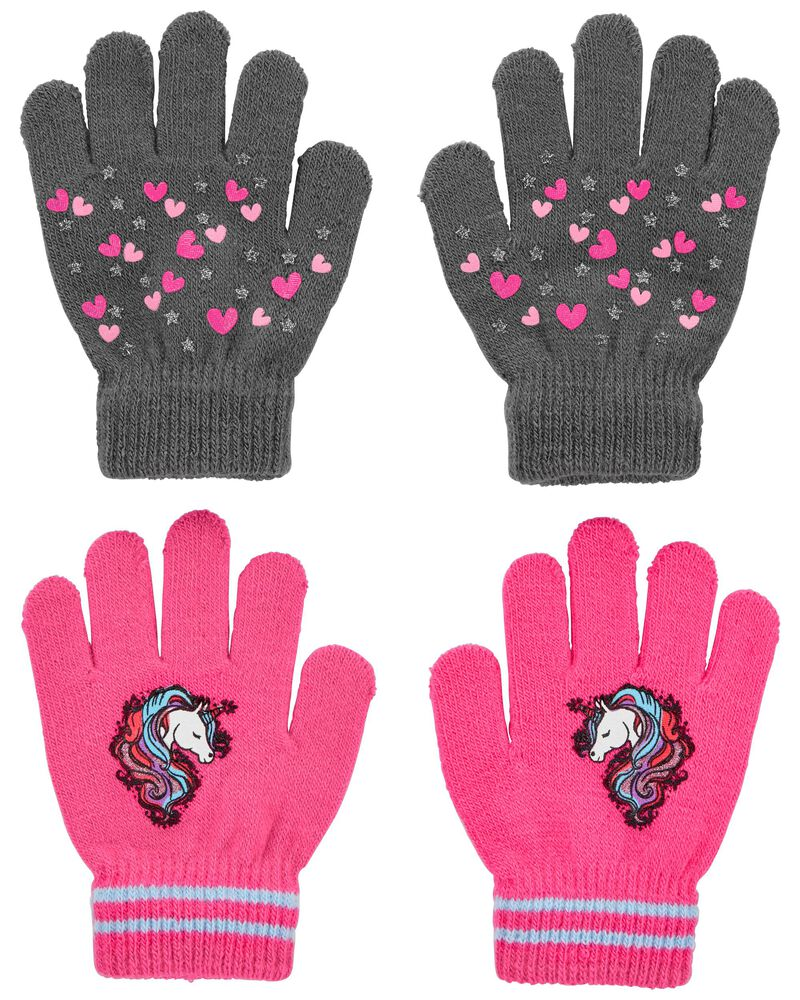 Emballage de 2 paires de mini gants licorne cœur KOMBI, , hi-res