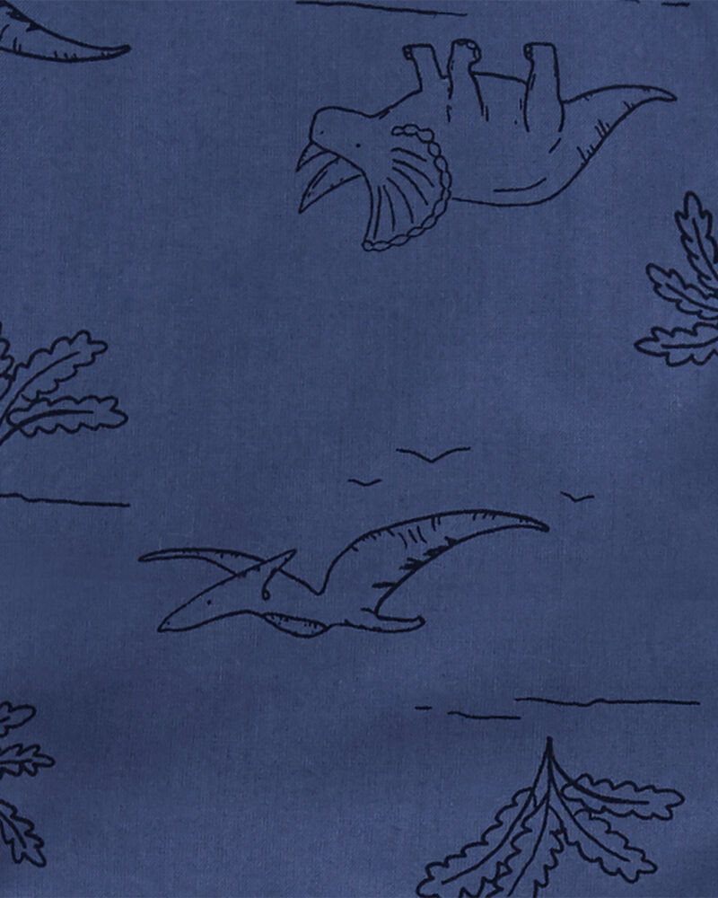 2-Piece Dino Button-Front & Canvas Short Set, , hi-res