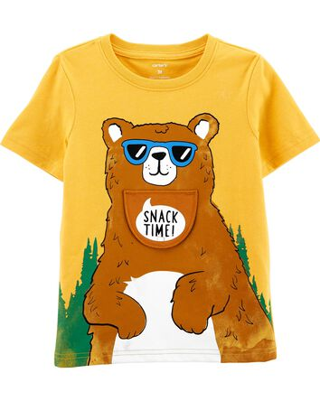 T-shirt en jersey à ours sous rabat...
