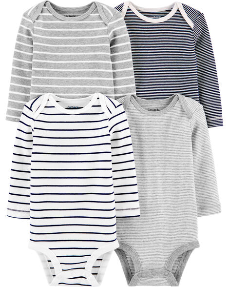 4-Pack Striped Original Bodysuits