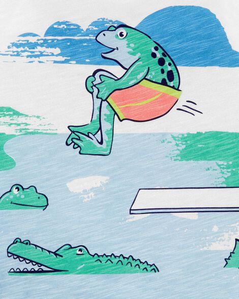 Débardeur en jersey flammé à grenouille