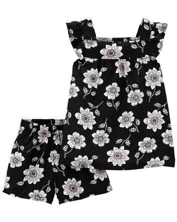 2-Piece Floral Tee & Short Set