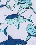 Shark Print Rain Jacket, , hi-res