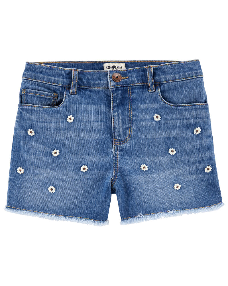 Short en denim extensible à délavage Surfside, , hi-res