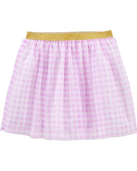 Glitter Gingham Tutu Skirt