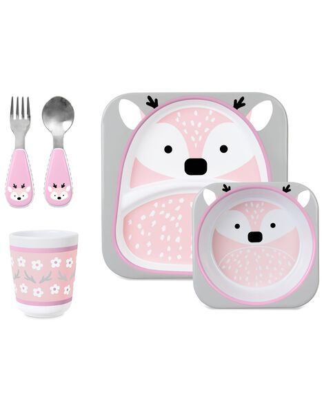 Winter Zoo Mealtime Gift Set