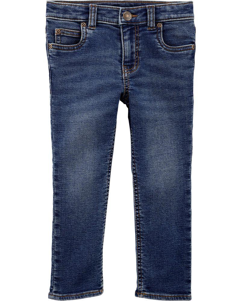 Jeans à 5 poches de coupe fuseau, , hi-res
