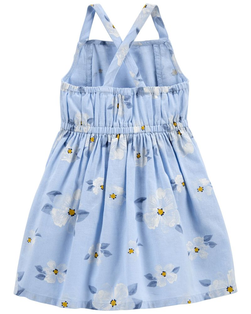 Daisy Linen Dress, , hi-res