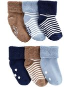 6-Pack Striped Booties, , hi-res