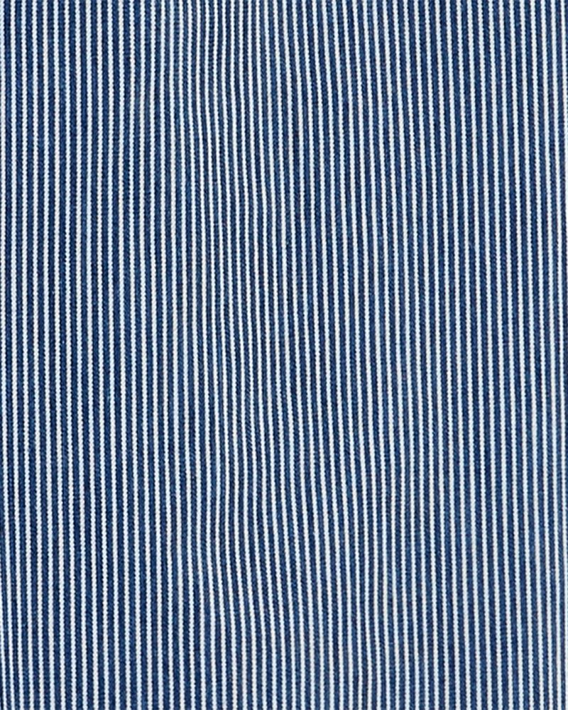 Hickory Stripe Drawstring Overalls, , hi-res