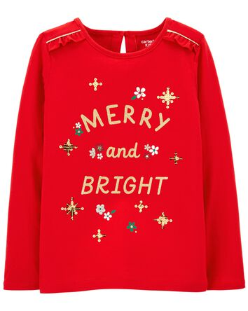 T-shirt en jersey Merry And Bright
