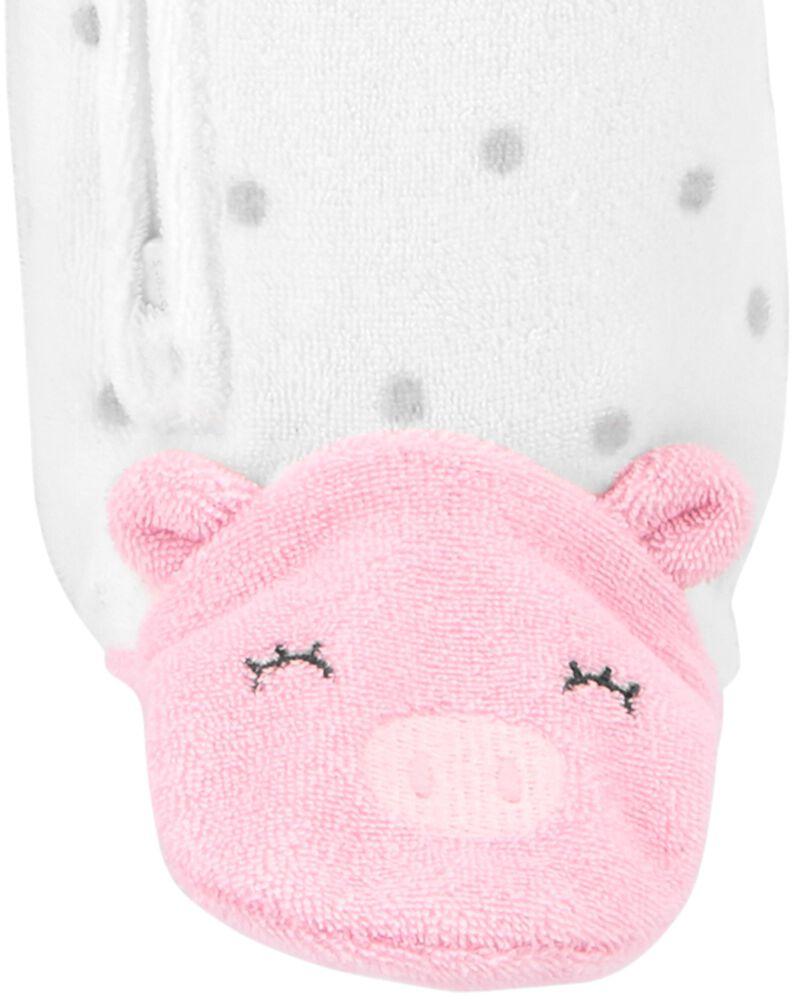 Pig Snap-Up Terry Sleep & Play, , hi-res