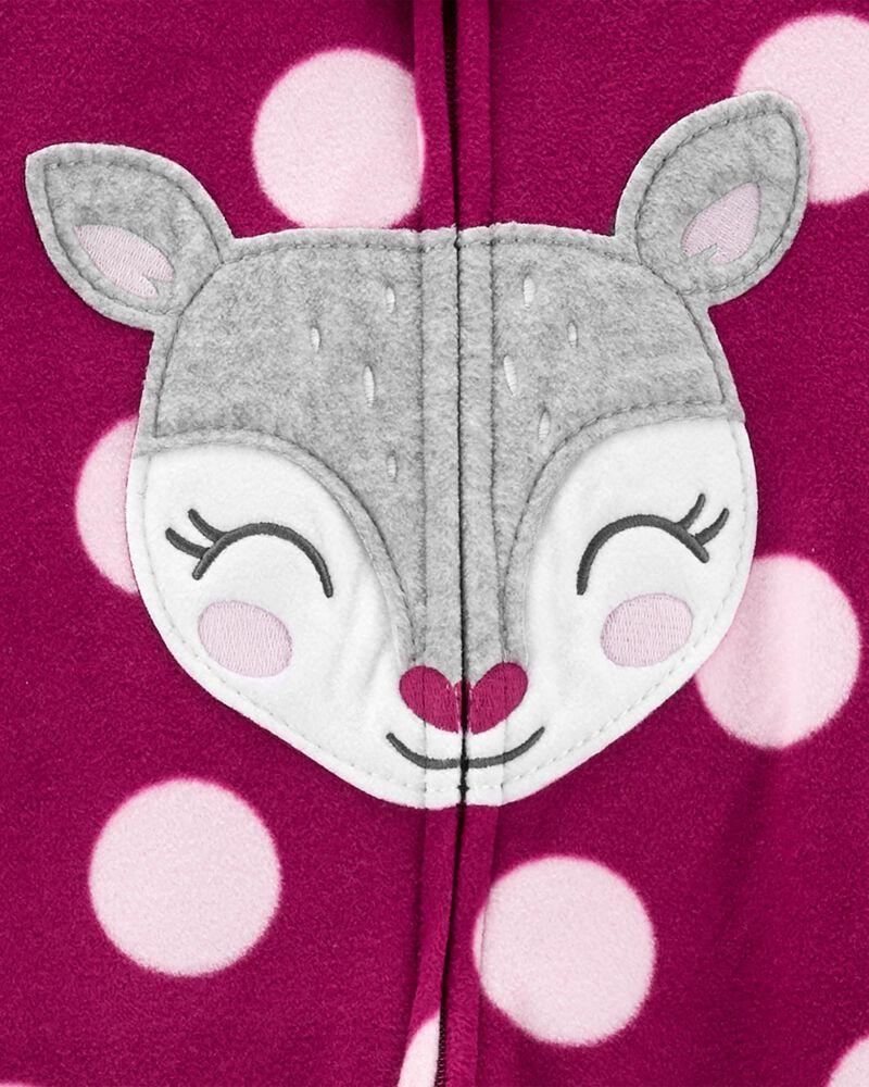 1-Piece Deer Fleece Footie PJs, , hi-res