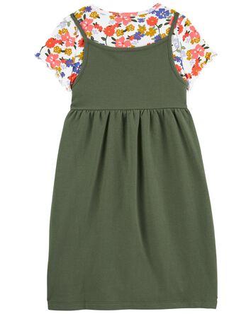 2-Piece Floral Tee & Tank Dress Set