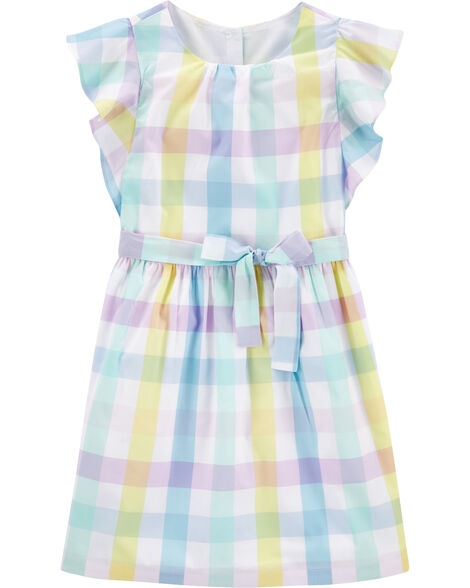 Gingham Poplin Dress