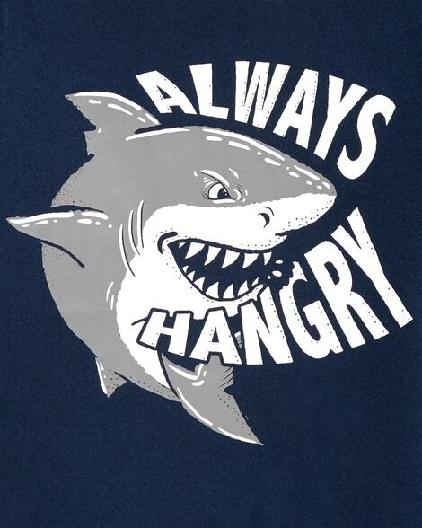 T-shirt en jersey Always Hangry Shark