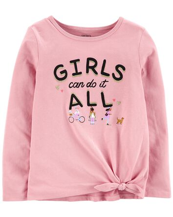 Girls Can Do It All Jersey Tee