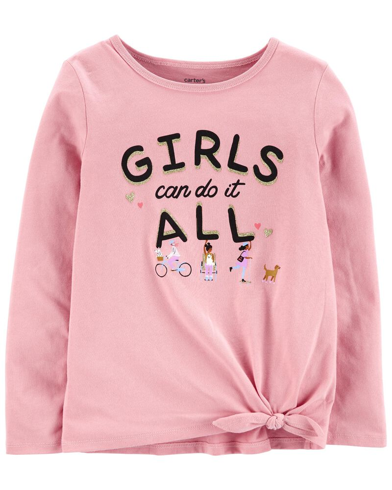 Girls Can Do It All Jersey Tee, , hi-res